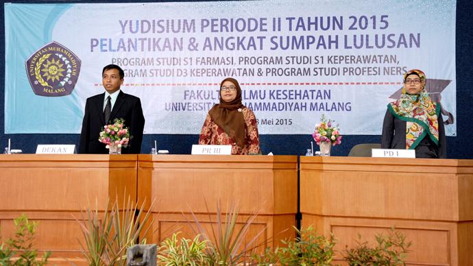 Yudisium Periode II, Pelantikan dan Angkat Sumpah Lulusan Tahun 2015